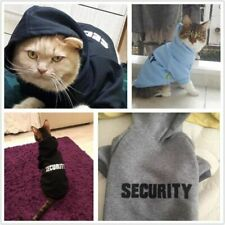New Security Cat Clothes Pet Cat Coats Jacket Hoodies For Cats Outfit Warm Pet