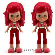 "Gift 2Pcs Strawberry Shortcake Doll 3"" Action Figure Baby Kids Doll 2008 FK195"