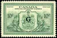 Canada #EO2 mint XF OG NH 1950 Special Delivery 10c green G Overprint CV$36.00