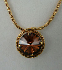 Neugablonz Anton Hübner Design Collier Goldtopas Swarovski Elements (61617)