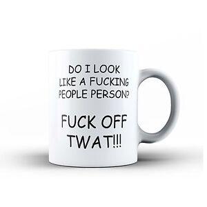 Do I Look Like A F*cking People Person Ceramic Novelty Coffee Tea MUG Cup Rude