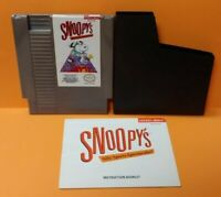 Snoopy's Silly Sports - Nintendo NES Game, Manual, Dust Cover, Rare Tested Auth