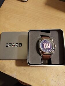 NEW YORK GIANTS CLASSIC MEN'S WATCH brown LEATHER BAND OFFICIALLY LICENSED NEW