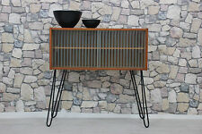 60er TEAK KOMMODE SIDEBOARD TV HIFI RACK DANISH 60s CHEST TEAK DANISH