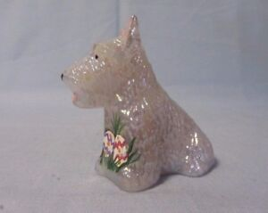 BOYD GLASS DUKE THE SCOTTIE DOG PINK CARNIVAL EASTER HP  B IN DIAMOND