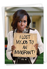 Lost My Job: Hysterical Birthday Card Featuring Michelle Obama Leaving the White