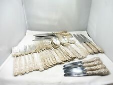 Stieff Sterling Silver Rose Flatware Set For 8 W 13 Serving Pieces 68.53 Toz