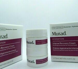 Murad Hydration Intense Recovery Cream travel size Lot of 2 0.25 fl oz/7.5ml