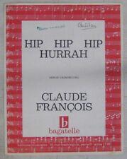 Claude François Partition Hip Hip Hip Hourrah