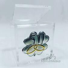 FAI DA TE bomboniere cubo plex 50° anniversario matrimonio nozze oro no confetti