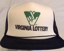 Virginia Lottery Trucker Hat Black/White SnapBack HTF15
