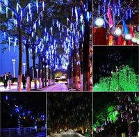 8 Meteor Shower Falling Star/Rain Drop/Icicle Snow LED Xmas Tree String Light Z