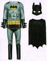 Batman Kostüm Fledermaus grau Gr. L (52/54) 3-tlg. Fasching Karneval Verkleidet