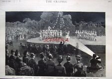 """Antique Engraved Print 1886 - """"The Ballet, 'Daphnis & Chloe' at Crystal Palace"""""""