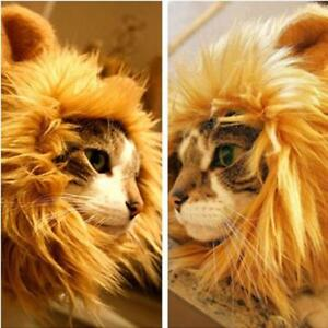 Pet Lion Mane Wig for Dogs Cat Cute Halloween Fancy Dress Up Costume Accessories