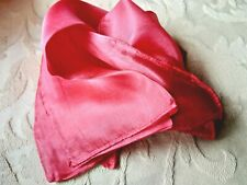 "INDIAN 100% PURE SILK HANDMADE PLAIN PINK CORAL SCARF DESIGN 6""x 40"" £6.50 nwt"