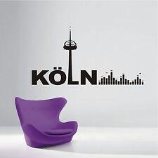 WANDTATTOO Wandaufkleber Skyline Köln Musik Sound Equalizer Retro Wohnzimmer 565