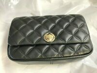 Kate Spade Natalia flap turnlock crossbody bag Clutch Quilted leather $249 Black