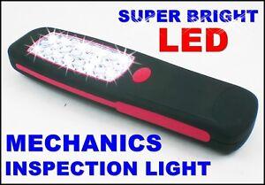 Mechanics Inspection Lamp Light Garage Cordless Lead Battery Led Torch Work Tool