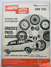 Auto Motor Sport 13/1962, Test BMW 1500, Lancia Flaminia GT