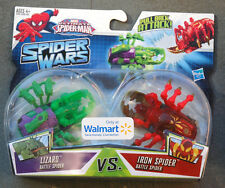 Spider Man Wars Iron Spiderman vs Lizard Battle Twin Pak New Toy Hasbro Marvel