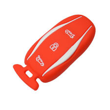 Silicone Car Key Case key cover Protective Case Red for Tesla Model S