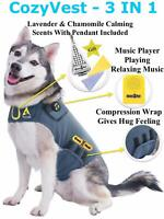 Dog Anxiety Separation Thunder Shirt Coat Vest Jacket + Music + Lavender Scent
