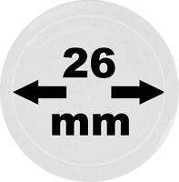 100 x LOOK Münzkapseln 26 mm Innendurchmesser - Aussen. 32 mm Glasklar mit Rand