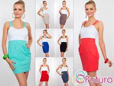 V Neck Patternless Short/Mini Tunic Dresses for Women