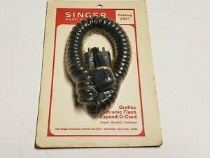Vtg. SINGER GRAFLEX Electronic Flash Expand O Cord Camera Cable #2801 NEW