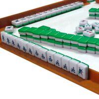 Mini 144 Mahjong Tile Set Travel Board Game Chinese Traditional Mahjong Games,