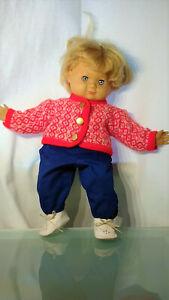 Schildkröt Puppe Schlummerle, 60er Jahre, blond. Sehr gepflegt.