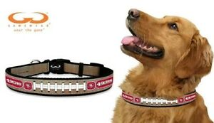 San Francisco 49ers Reflective Medium M NFL Football Safety Pet Dog Collar (B)