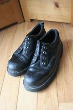Skechers Black Leather Mens Heavy Duty Work Boots Size 11