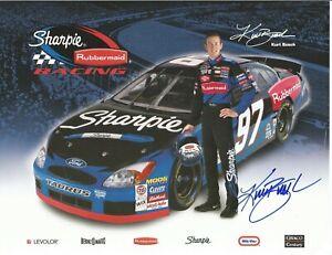 Kurt Busch Autographed 8 1/2 X 11 Postcard 2002 Sharpie L@@K