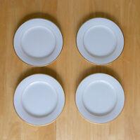 Set of 4 Noritake China GUILFORD 5291 White w/ Gold Rim Bread Plates, Japan
