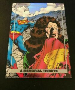 1992 SkyBox Doomsday The Death of A Memorial Tribute Superman #S4