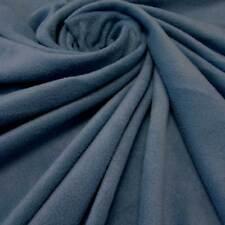 Stoff Meterware Polar Fleece antipilling weich knitterfrei jeansblau Meterpreis