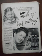 1945 VTG Orig Magazine Ad 7 Up Soda Fresh Up Youngsters Love A Cheerful Mother
