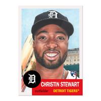 2019 Topps Living Set 199 Christin Stewart RC Detroit Tigers Retro 1953 Style