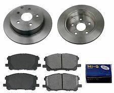 Rear Ceramic Brake Pad Set & Rotor Kit for 2009-2010 Toyota Corolla XRS