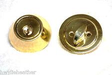 Residential heavy duty single cylinder deadbolt keyed entrance lock Bright Brass