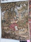 """French Wall Hanging Tapestry Fête printanière  """"Spring Festival""""  56''x 43''"""