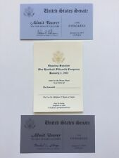 Three Official 2015 2017 & 2019 Opening Session U.S. Senate & U.S. House Tickets