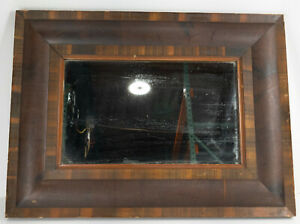 Antique American Empire Ogee Type Mahogany Mirror Looking Glass