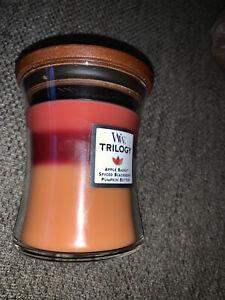 WoodWick Trilogy Autumn Harvest Crackling Medium Hourglass Candle 9.7 oz.