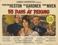 55 DAYS AT PEKING Movie POSTER 22x28 Half Sheet Charlton Heston Ava Gardner