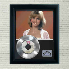 "Olivia Newton John ""Hopelessly Devoted To You"" Silver Framed Record Display"