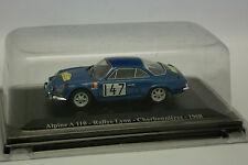 Eligor Presse 1/43 - Alpine Renault A110 Lyon Charbonnieres Rallye 1968