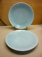 Threshold Kennet Azure Stoneware Target Dinner Plates Set of 2